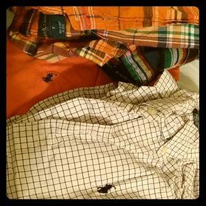4 ralph lauren long sleeve shirts, 2 Tommy